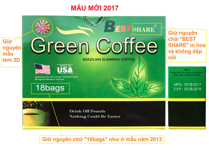 phan biet green coffee that va gia 103